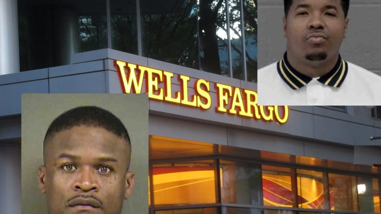 WELLS FARGO BANK ROBBED, 2 SUSPECTS ARRESTED