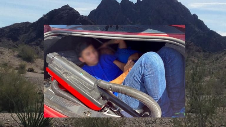 UNDOCUMENTED IMMIGRANTS FOUND HIDING IN TRUCK OF VEHICLE AT BORDER CHECK POINT