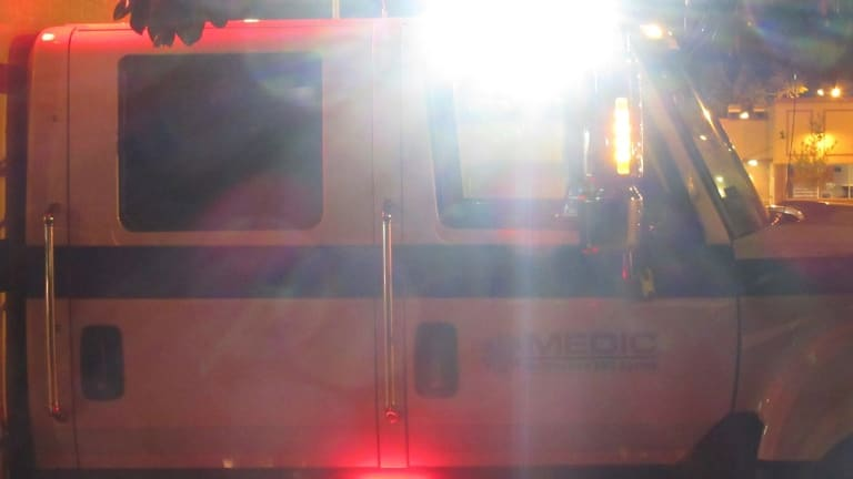 MAN HIT BY VEHICLE ON THE PLAZA, LIFE THREATENING INJURIES