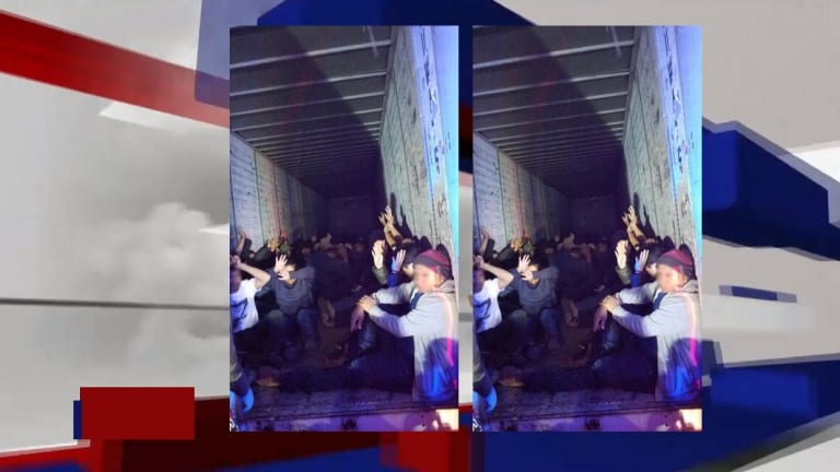 LOADS OF UNDOCUMENTED IMMIGRANTS BUSTED HIDING IN 18-WHEELER TRUCK