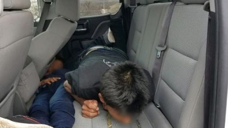 X-RAYS CATCH HUMAN SMUGGLER AT IMMIGRATION CHECKPOINT