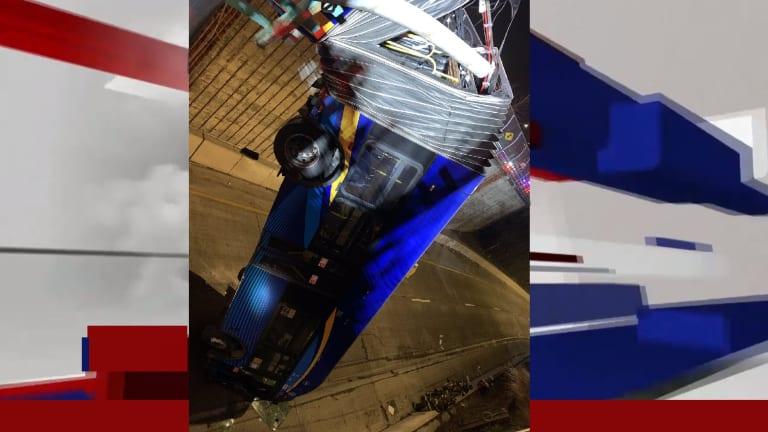 BUS RUNS OFF OF BRIDGE, SEVERAL PEOPLE HURT