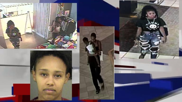 WOMEN LEAVE KID IN HOT CAR WHILE STEALING AT NORTHLAKE MALL