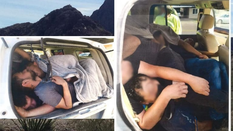 TWO VEHICLES USED TO SMUGGLE 34 ILLEGAL IMMIGRANTS