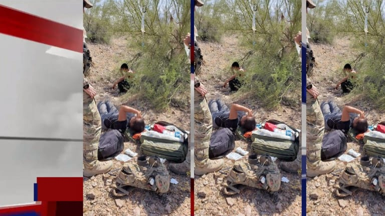 BORDER PATROL RESCUES 7 ILLEGAL IMMIGRANTS IN THE DESERT