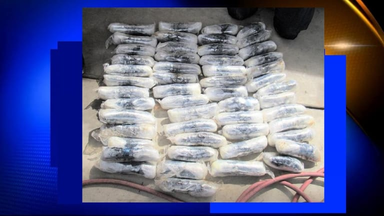 $850,000 IN METHAMPHETAMINE SEIZED FROM DRIVER