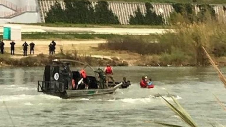 BORDER PATROL AGENTS RESCUE ILLEGAL IMMIGRANT WOMAN FROM DROWNING