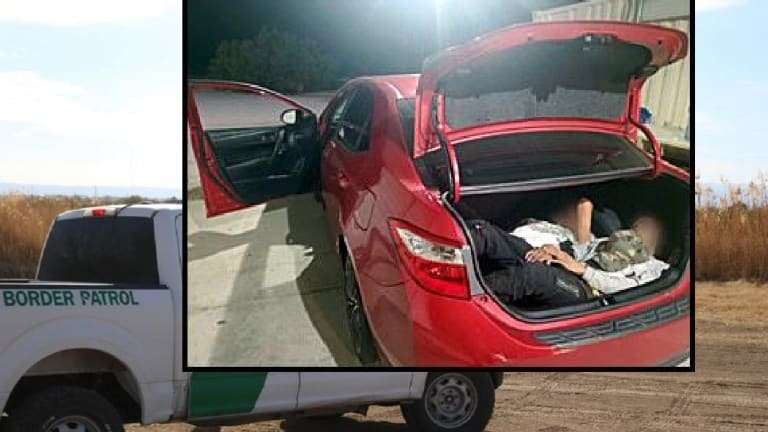 ILLEGAL IMMIGRANTS FOUND HIDING IN TRUNK OF CAR DURING SMUGGLING ATTEMPT