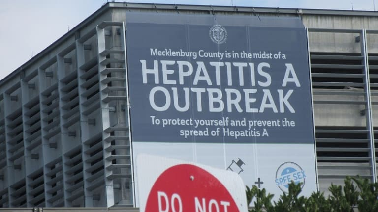 MECKLENBURG COUNTY IS IN THE MIDST OF A HEPATITIS A OUTBREAK