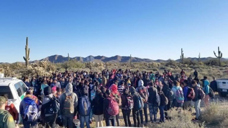 GROUP OF 325 CENTRAL AMERICANS APPREHENDED IN ARIZONA