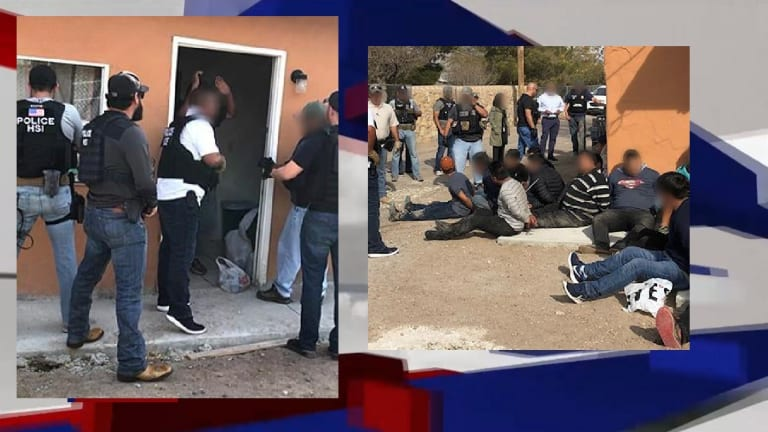 ICE ARRESTS 54 ILLEGAL IMMIGRANTS IN TEXAS SMUGGLING STASH HOUSE