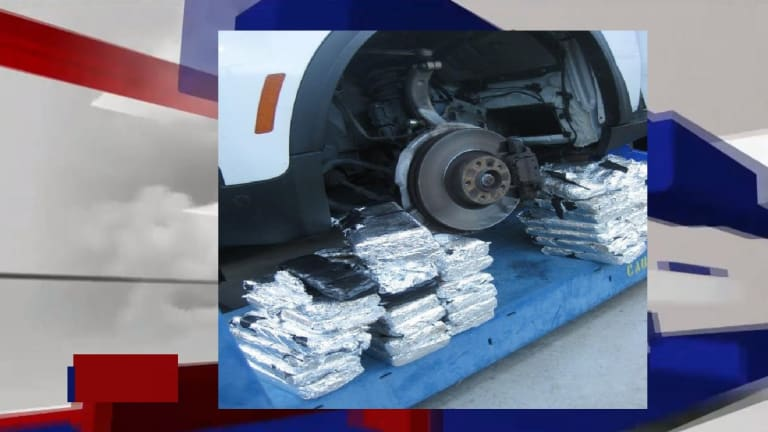 $1 MILLION IN COCAINE FOUND WITHIN BMW TIRE