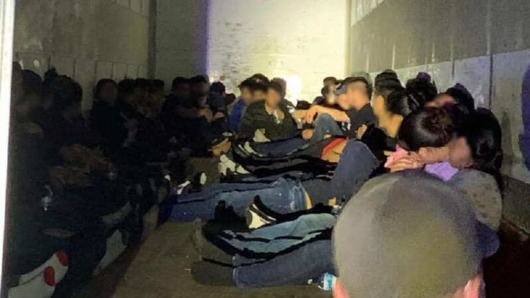LARGE GROUP OF ILLEGAL IMMIGRANTS DISCOVERED INSIDE 18-WHEELER TRUCK