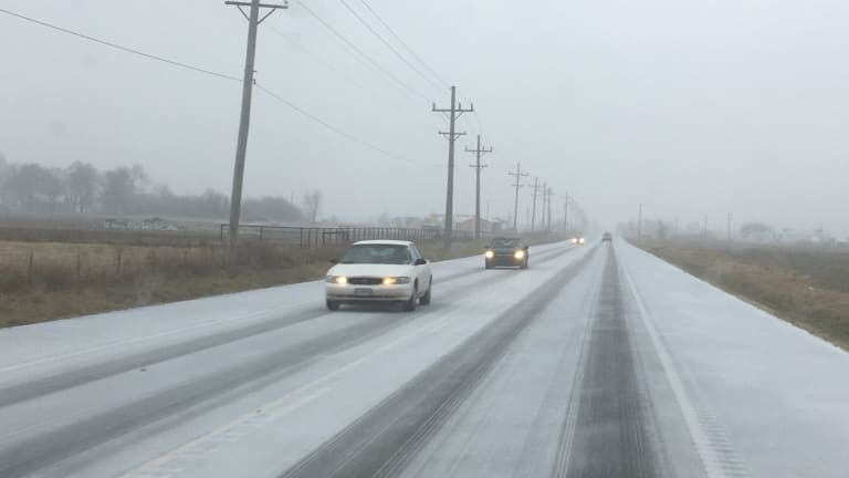Roads in Southwest Missouri Were Slick This Afternoon and Evening