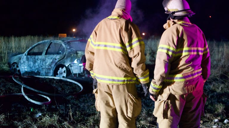 Early Morning Rollover Crash and Fire Diamond, Mo