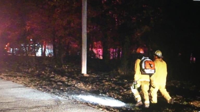Outside Fire on Lonnie Lane in Seneca Mo