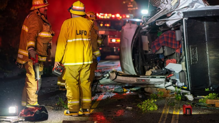 Critically Injured Accident Victim Extricated from Vehicle in Studio City