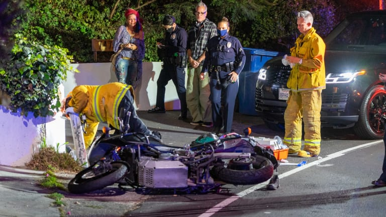 Gun, Ammo Discovered After Motorcyclist Crashes in Hollywood Hills