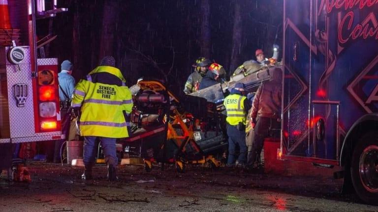 Serious Rollover Crash Traps 3 Children, 1 Adult