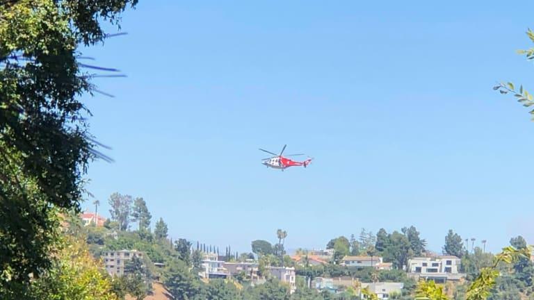 LAFD Battle Hollywood Hills Brush Fire