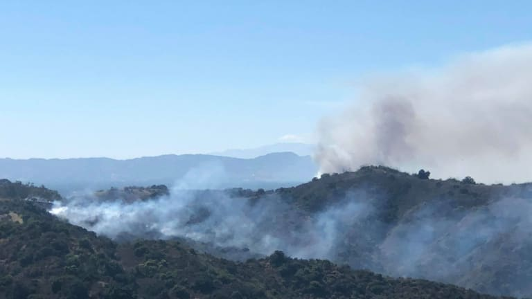 Afternoon Studio City Brush Fire Near Tree People Contained