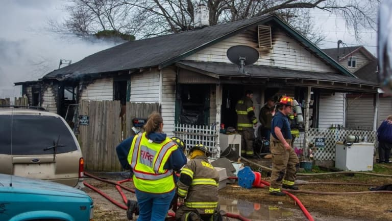 Structure Fire on Frisco Street in Seneca Mo