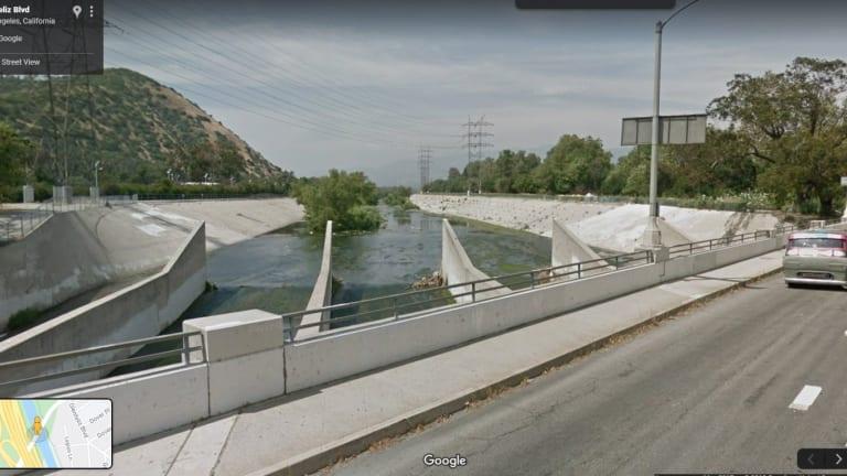 LAFD Rescues Victim Stranded in LA River