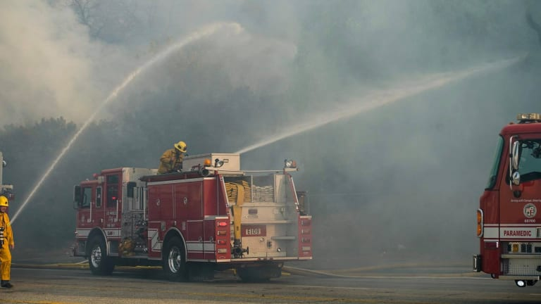 Brush Fire Erupts in the Hollywood Hills Near Universal City and Burbank