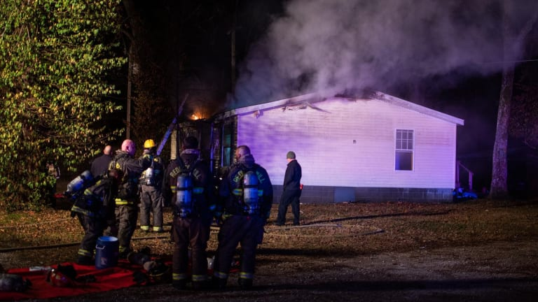 Heavy Smoke and Fire at a Structure in the Reding's Mill Area