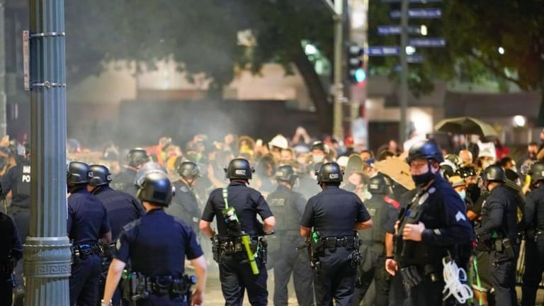 Recent Police Shootings Spark Protest in DTLA, Assembly Declared Unlawful