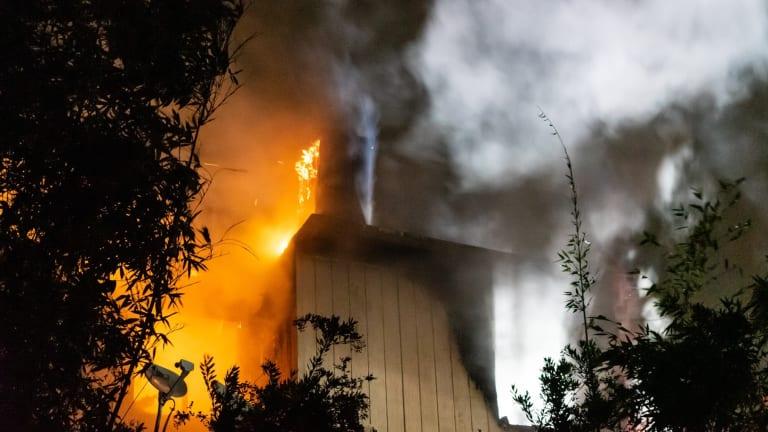 Hillside Two-Story Home Fire in Eagle Rock