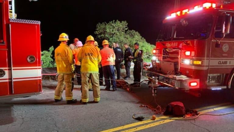 One Injured, One Fatal, in Hollywood Hills Hillside Crash