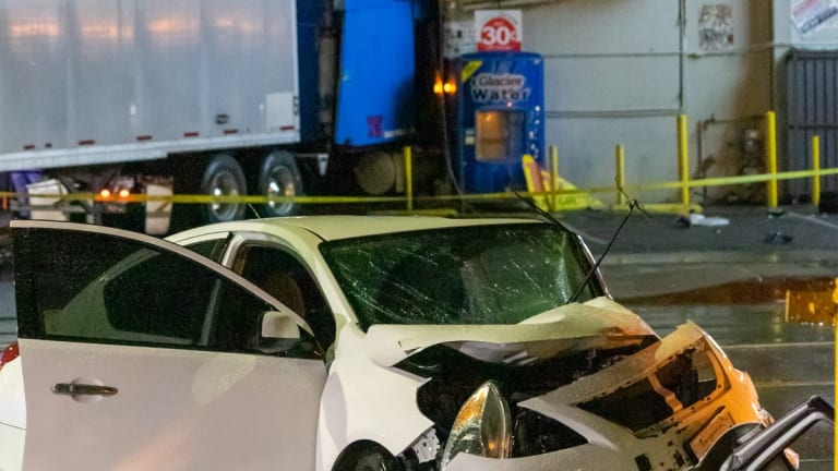 Early Morning Traffic Collision Sends Big-Rig into Liquor Store