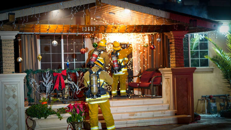 Christmas Tree Fire in Valley Glen Home