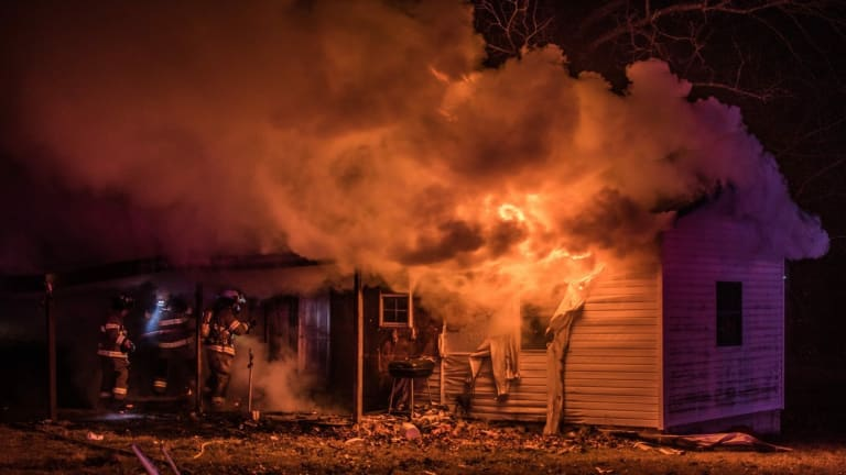 Fully Involved House Fire in Granby