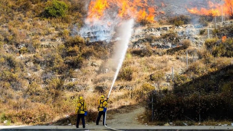 Mandatory Evacuations During Eagle Rock Brush Fire