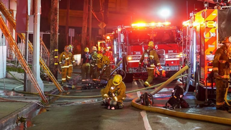 East Hollywood Commercial Building Damaged by Early Morning Fire
