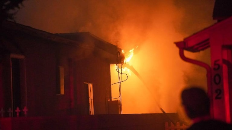 Early Morning Blaze at Single Family Home in Burbank