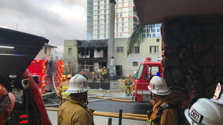 LAFD Battled Blaze for Second Time at Same Location in Hollywood