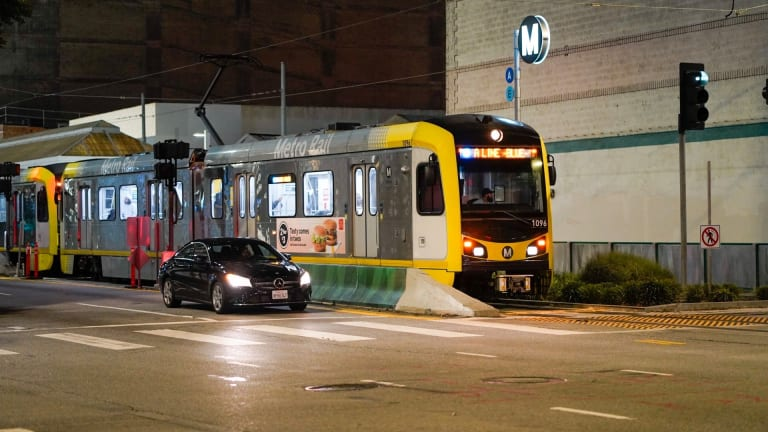 Metro A Light Rail Train Collides with Vehicle