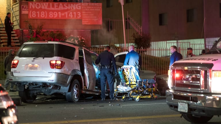 North Hills Head-On DUI Crash, 2 Adults 3 Children in Critical Condition