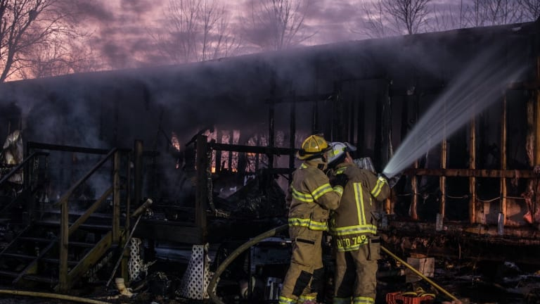 Mobile Home Completely Destroyed After Catching Fire