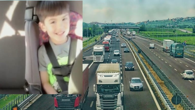 CHILD SHOT AND KILLED ON HIGHWAY WHILE BEING DRIVEN TO KINDERGARTEN