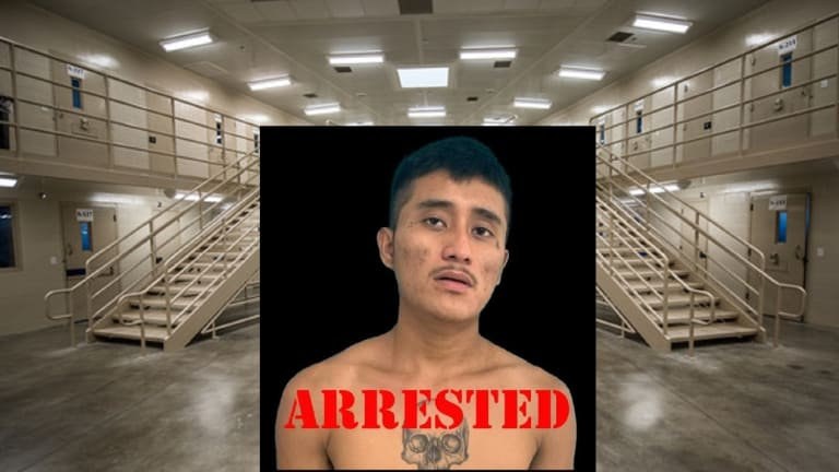 LATINO GANG MEMBER ARRESTED IN STASH HOUSE