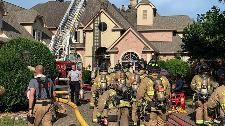FIRE STARTS AT LUXURY HOME, LIGHTNING STRIKE TO BLAME