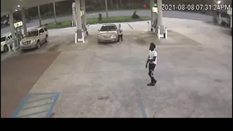 VIDEO: WOMAN GETS BODY SLAMMED DURING ROBBERY AT GAS STATION