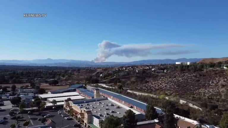 """Firefighters Battle """"Route Fire"""" North of Castaic"""