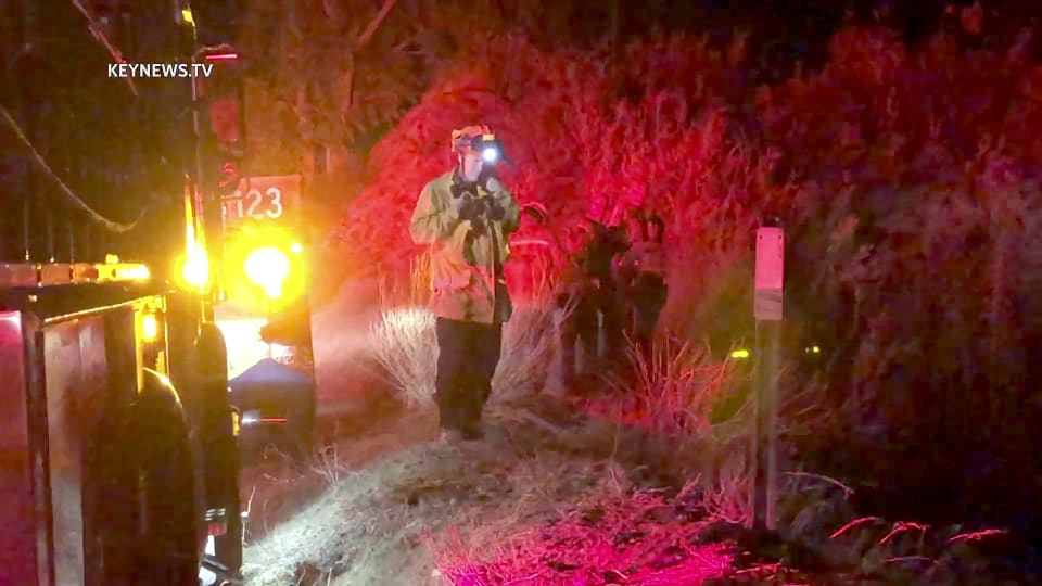 2 Patients Airlifted from Vehicle Wreckage at Bottom of Embankment in Santa Clarita