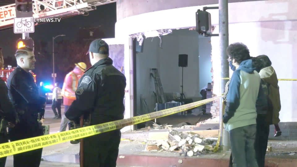1 Killed, 5 Injured After Vehicle Slams into a Van Nuys Restaurant