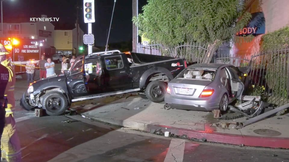 1 Man Transported to Hospital After 2-Vehicle Collision in Van Nuys